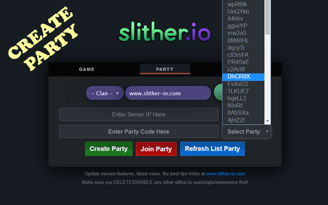 Create Party